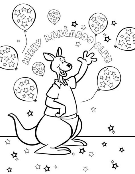 Kirby Kangaroo Coloring Pages | kangaroo images for kids coloring home