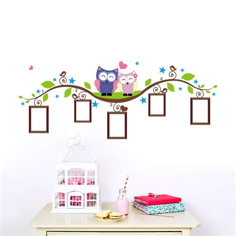 owl wall stickers  kids room decorations animal decals