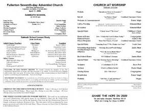 bulletin template 7 best images of church bulletins ideas and exles
