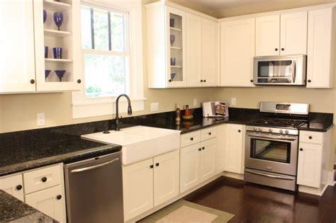 White Craftsman Kitchen by White Shaker Craftsman Kitchen Traditional Kitchen