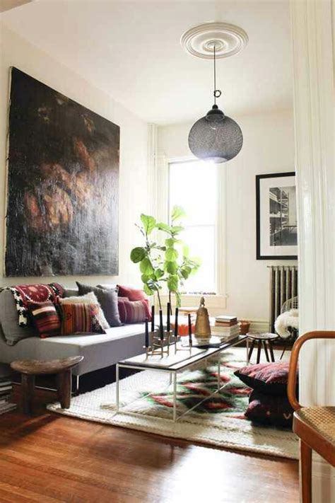 Living Room With Indoor Plants by Bohemian Living Room Indoor Plants Nest