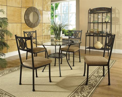 glass dining room furniture sets carolyn glass top round dining room set from steve silver cr450b cr450t coleman furniture