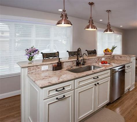 pictures of kitchen islands with sinks two tier island with sink and dishwasher would prefer