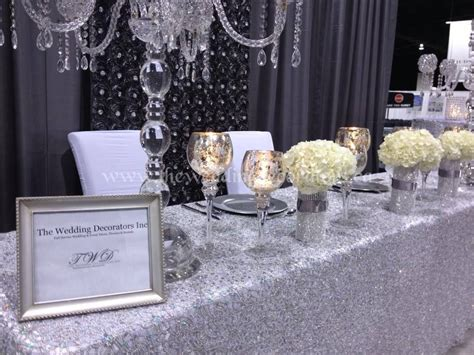 silver table decorations wedding booth decor silver white wedding