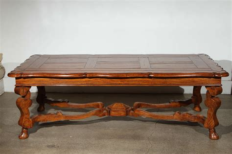 Handcrafted Wood Coffee Table Provencial Handcrafted Wooden Coffee Table At 1stdibs