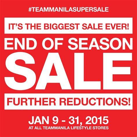Sle Sale Season Starts by Team Manila S End Of Season Sale Don T Pay Price