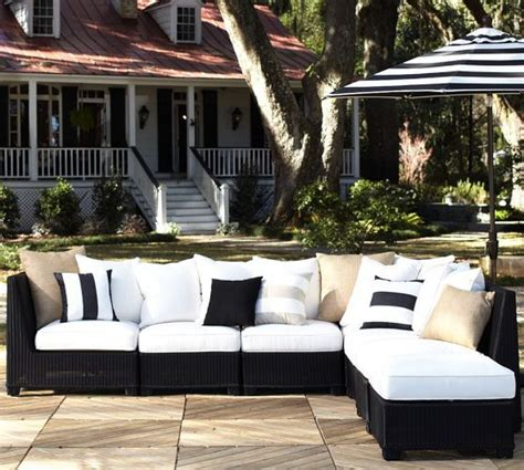 build your own outdoor sectional sofa build your own palmetto all weather wicker sectional