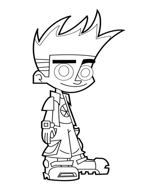 Page Johnny Test Coloring Pages Free Printable