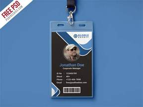 photographer id card template multipurpose office id card free psd template
