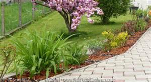 jardin ma bordure d arbustes fleuris avance