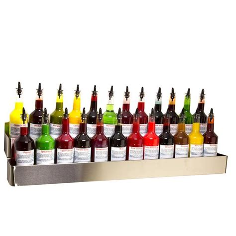 Snow Cone Bottle Rack by Stainless Steel Bottle Rack Wall Mount 42 Inch