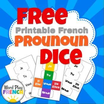 printable verb dice 318 best images about french freebies on pinterest free