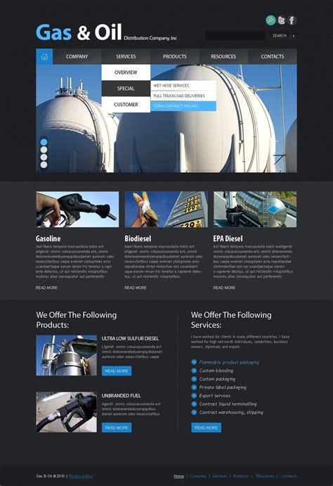 gas oil website template web design templates website