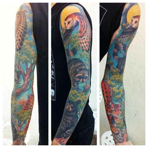 animal tattoo sleeve 13 best images about animal sleeve on wolves