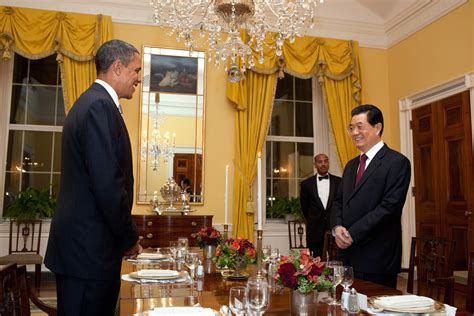 white house dinner file barack obama and hu jintao of china at working dinner