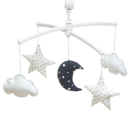 navy mobile navy white moon and mobile pouce et lina
