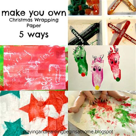 How To Make Your Own Wrapping Paper - and learning begins at home make your own