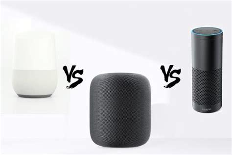 amazon echo vs google home vs apple homepod apple homepod vs google home vs amazon echo who s more
