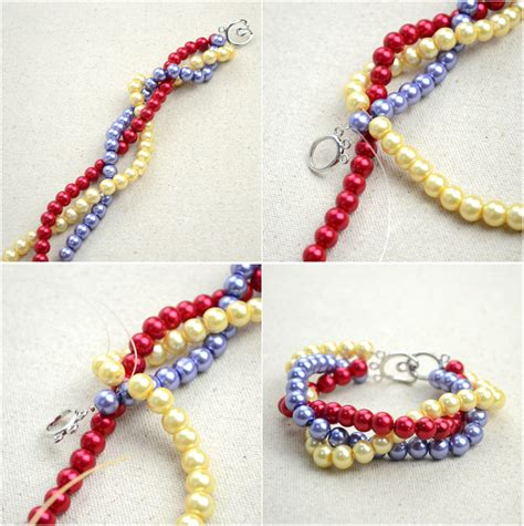 How To Make A Handmade Bracelet - handmade beaded jewelry designs simple pearl bracelet and