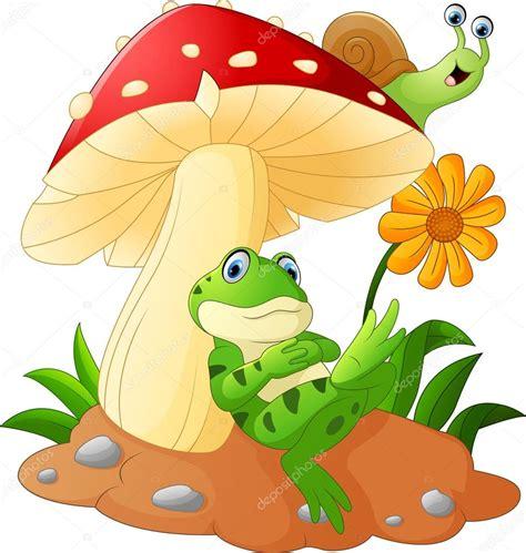 imagenes de ranas animadas navideñas cute dibujos animados de rana y caracoles con setas