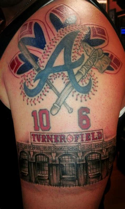 atlanta braves tattoos atlanta braves now even i think this is a