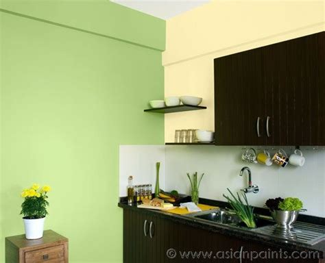 this kitchen uses varying shades of green in cohesion
