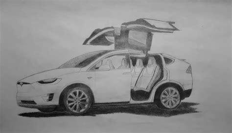 Tesla Model X Sketches by Tesla Drawing Www Imagenesmy