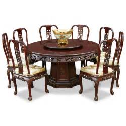 Kitchen Tables For 8 60in Rosewood Grape Motif Dining Table With 8 Chairs