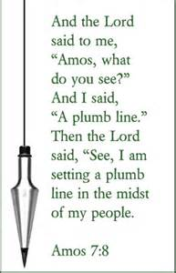 Plumb Definition The Plumbline Of God S Justice Seventh Sunday After