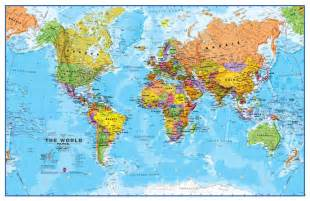 World Flat Map by Gallery For Gt Flat Globe Map