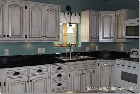 Paint And Glaze Cabinet Tutorial Exactly What I Want For Kitchen Cabinets With Black Glaze