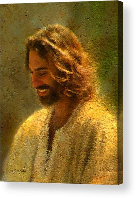 acrylic painting of jesus of the lord acrylic print by greg