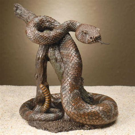 Patriotic Home Decor rattle snake sculpture creations and collections