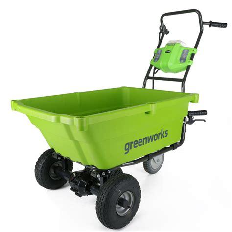 Garden Cart Greenworks 40v Self Propelled Wheelbarrow Garden Cart