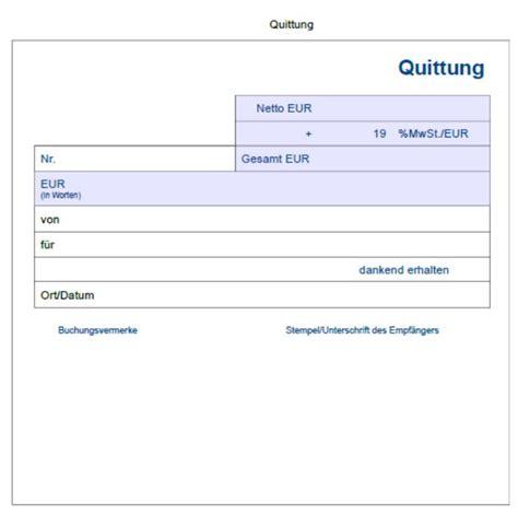 Word Vorlage Quittung Quittungsvorlage Der Mustermann