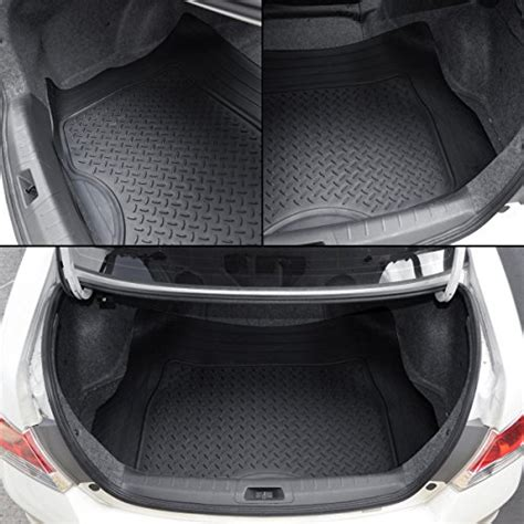 Discounted Motor Trend All Weather Floor Mats - free shipping motor trend heavy duty rubber cargo mat