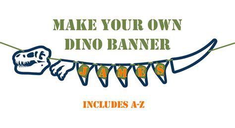printable dinosaur birthday banner dinosaur banner printable party banner and decoration a