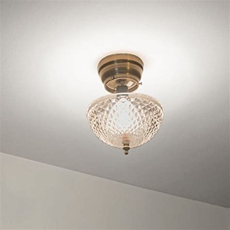 evelots ceiling clip on cut acrylic dome light