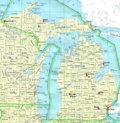 map of northern map northern michigan michigan map