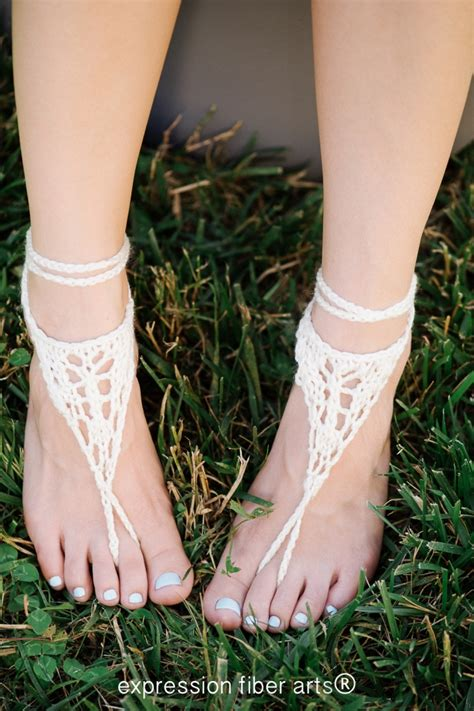 knitted barefoot sandals free pattern wanderer knitted barefoot sandals