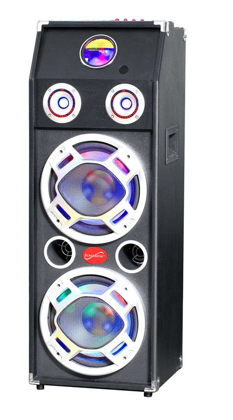 Subwofer Active 10 Inch Usb Sd Radio Input 3 5mm B Murah dj and karaoke systems supersonic inc iq 3035dj 10 quot professional active speaker with