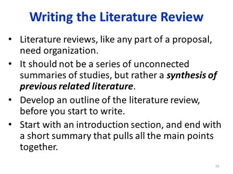 Literature Review How To Start by The Literature Review Lecture Ppt