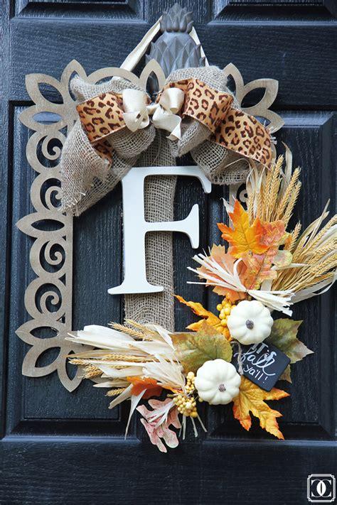 super easy diy fall wreath home decor style  senses