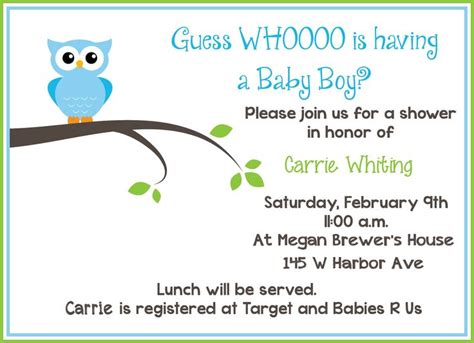Free Printable Owl Baby Shower Invitations by Best 25 Baby Shower Invitation Wording Ideas On