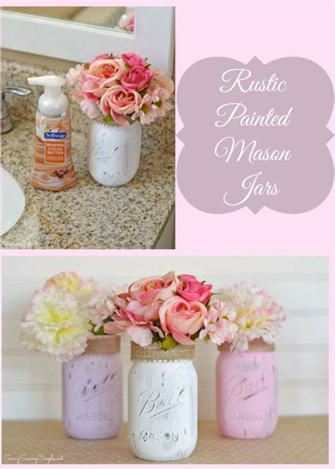 homemade bathroom decor diy bathroom decor rustic painted mason jars some