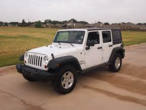Unlimited Sport Jeep Wrangler White 2011 Jeep Wrangler Unlimited Sport Suv 4x4 Power