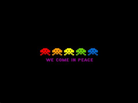 wallpaper design games simple space invaders they come in peace