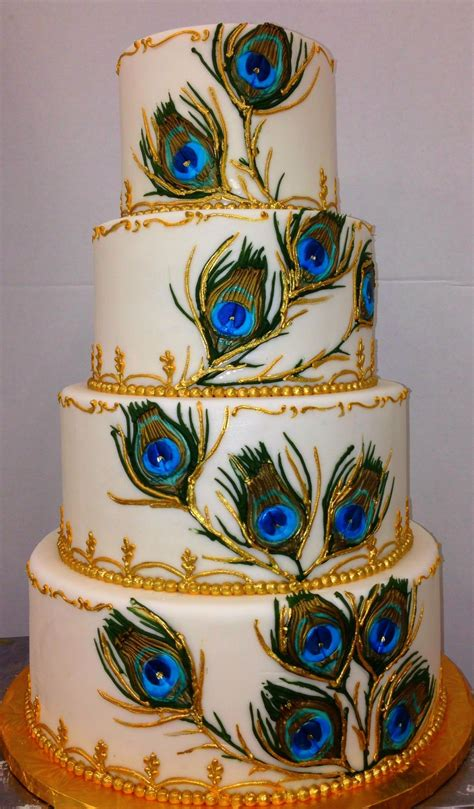 peacock feathers peacock wedding cake peacock cake