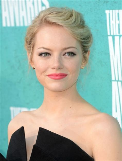 emma stone updo emma stone updo hairstyle for medium hair popular haircuts