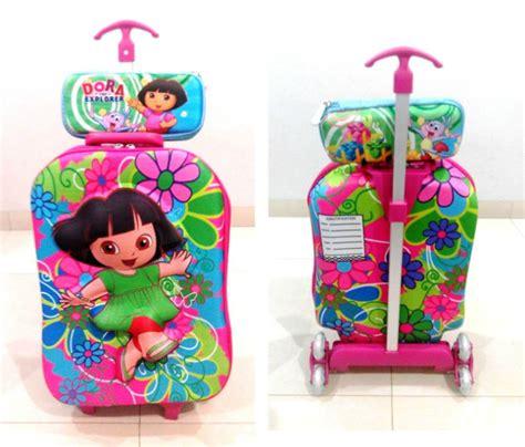 Troli Anak Desney 150000 tas anak 2 tas troli trolley anak sekolah